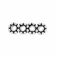 4 Hole 4mm Sterling Silver Daisy Spacer Bead (1PC)