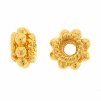 5mm Gold Vermeil Daisy Rope Spacer (1PC)