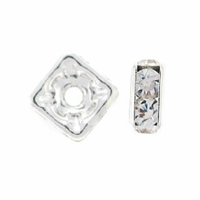 5mm Crystal Silver Plated Squaredelle (10PK)