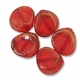 Brushed Gold Ruby Acrylic 33mm Nugget Beads (5PK)