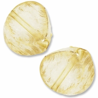Brushed Gold Clear Acrylic 33mm Nugget Beads (5PK)
