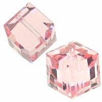 Light Rose 5601 Swarovski 6mm Cube Bead (1PC)