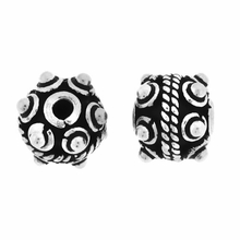 Bali Style Sterling Silver Bead 8mm w Raised Dots (1PC)