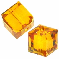 Topaz 5601 Swarovski 4mm Cube Bead (1PC)