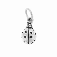 Lady Bug Sterling Silver Charm