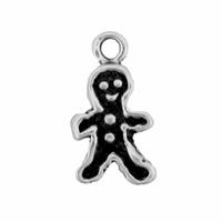 Sterling Silver Small Ginger Bread Man Charm