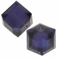 Purple Velvet 5601 Swarovski 4mm Cube Bead (1PC)