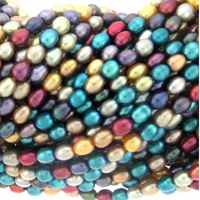 Multicolor Rice Freshwater Pearl 5.5mm Bead Strand