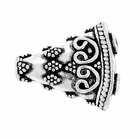 Bali Style SterlingSilver 1 to 2 Flattened Cone Spacer Bead (1PC)