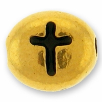 Antique Gold Cross Bead