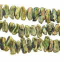 Forest Green BIWA Pearls Side Drilled 14-16mm 16 inch Strand