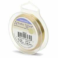 24 GA  Gold Color Artistic Wire 15 yard Spool