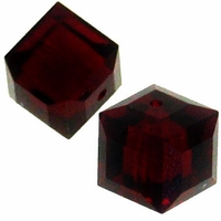 Garnet 5601 Swarovski 6mm Cube Bead (1PC)