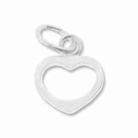 Silver Filled 9mm Open Heart Charm (1PC)