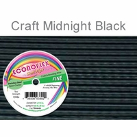 Econoflex Craft Fine Wire .014 Diameter 7 Strand Midnight Black