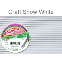 Econoflex Craft Fine Wire .014 Diameter 7 Strand Snow White