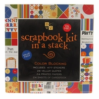 Scrapbook Kit in a Stack - Blocking