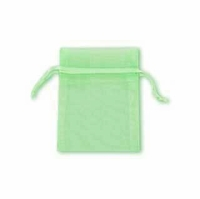 4x6 Inch Green Sheer Organza Gift Bag