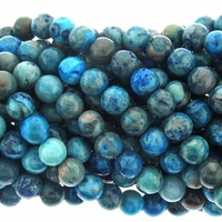8mm Blue Crazy Agate Beads  16 Inch Strand