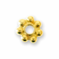 Gold Plated Daisy Spacer 5mm Beads (10PK)