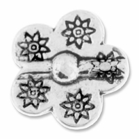 Antiqued Silver 14mm Thai Style Flower Bead (10PK)