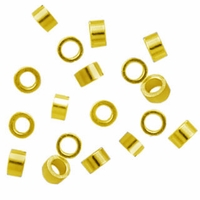 Gold Plated 2 x 1.25mm Crimp Beads (50PK)