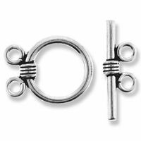 Emily Double Ring and Toggle Sterling Silver Set