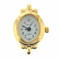 Gold Tone Delicate Oval Watch Face