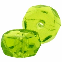 3 x 6mm Lt Olivine Czech Fire Polished Rondelles (25PK)