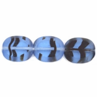 Sapphire Tortoise Oval Window 12/14mm Beads (12PK)