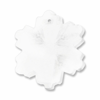 Majestic Crystal Clear 18mm Snowflake Pendant (2PK)