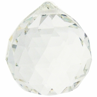Majestic Crystal Clear Large 45mm Teardrop Pendant (1PC)