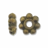 Antiqued Brass 6mm Daisy Spacer Beads (20PK)
