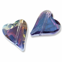 17x14mm Heart Crystal AB Effects Bead (1PC)