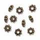 Antiqued Brass 4mm Daisy Spacer Beads (50PK)