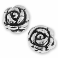 Fancy Sterlng Silver 10mm Rose Bead (1PC)