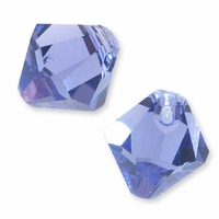 Tanzanite Swarovski 6301 Bicone 6mm Pendants (10PK)
