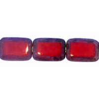 Red Picasso 12/8mm Rectangular Window (12PK)