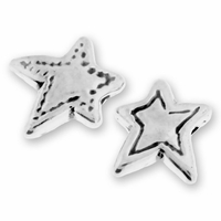Fancy Sterlng silver 13mm Star Bead (1PC)