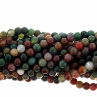Fancy Jasper 4mm Round Beads 16 inch Strand