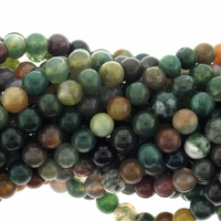 Fancy Jasper 6mm Round Beads 16 inch Strand