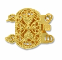 Gold Plated Fancy 2 Strand Oval Push Clasp (1PC)