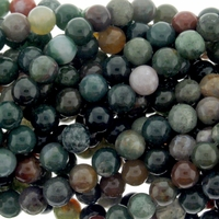 Fancy Jasper 8mm Round Beads 16 inch Strand