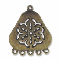 Antiqued Brass 1 to 5 Triangular 31mm Links (4PK)
