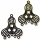Antiqued Brass 1 to 5 Triangular 36mm Links (4PK)