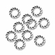 Antiqued Silver Twisted Circle Spacer Beads (20PK)