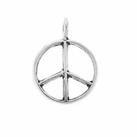 Peace Sign Sterling Silver Charm