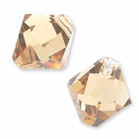 Lt. Colorado Topaz Swarovski 6301 Bicone 6mm Pendants (10PK)