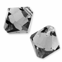 Black Diamond Swarovski 6301 Bicone 6mm Pendants (10PK)