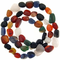 Multi-Color Agate Nugget Beads 28 inch Strand
